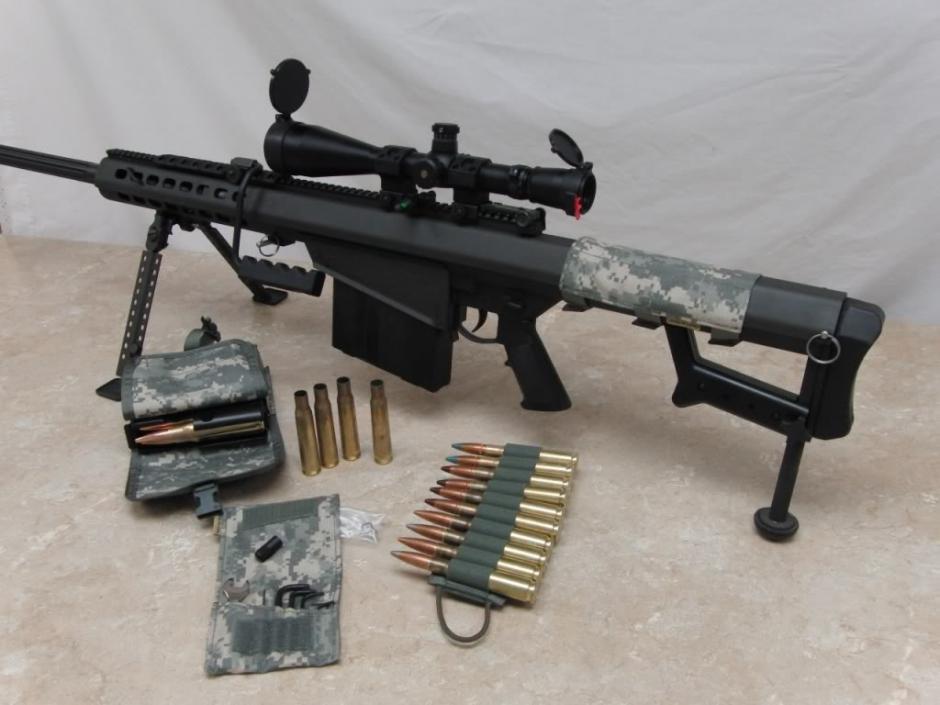"""El Rifle .50 en poder de """"El Chapo"""" Guzmán es de uso exclusivo del ejército."""