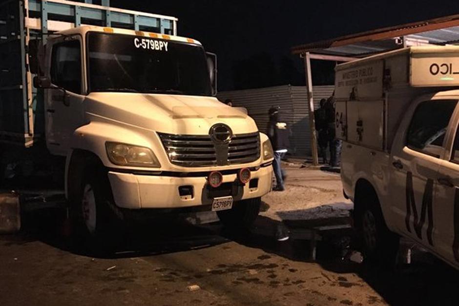 Un camión fue interceptado por investigadores y se detectó que transportaba dinero en efectivo. (Foto: MP)