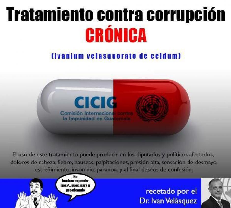 Los internautas recomiendan esta medicina para acabar con la corrupción en Guatemala.