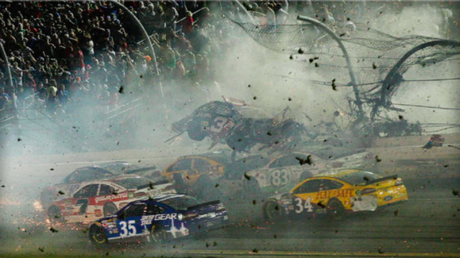 Nascar Sprint Cup Daytona accidente foto
