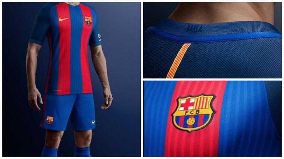 Los detalles de la nueva camisola de Barcelona. (Foto: Twitter)
