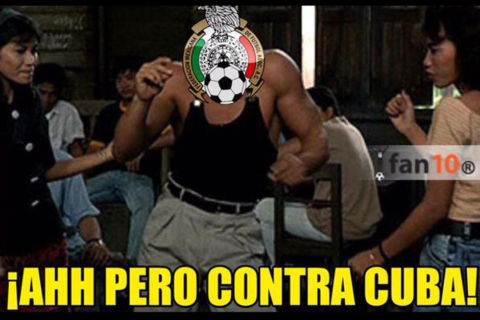 México empató a cero ante Guatemala tras golear a Cuba, por lo que muchos se burlaron. (Imagen: Twitter)