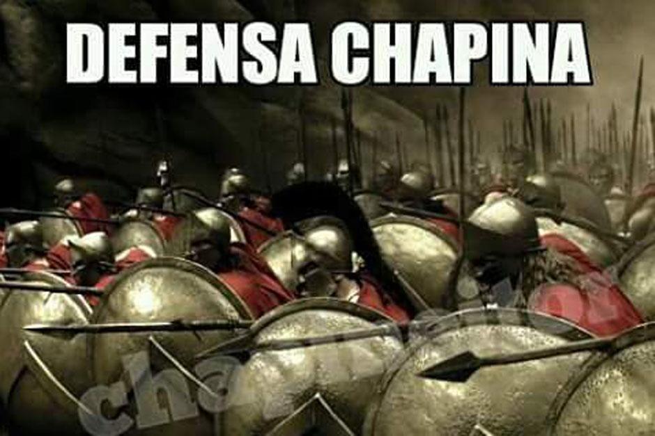 La defensa guatemalteca fue comparada con una tropa de gladiadores. (Imagen: Twitter)