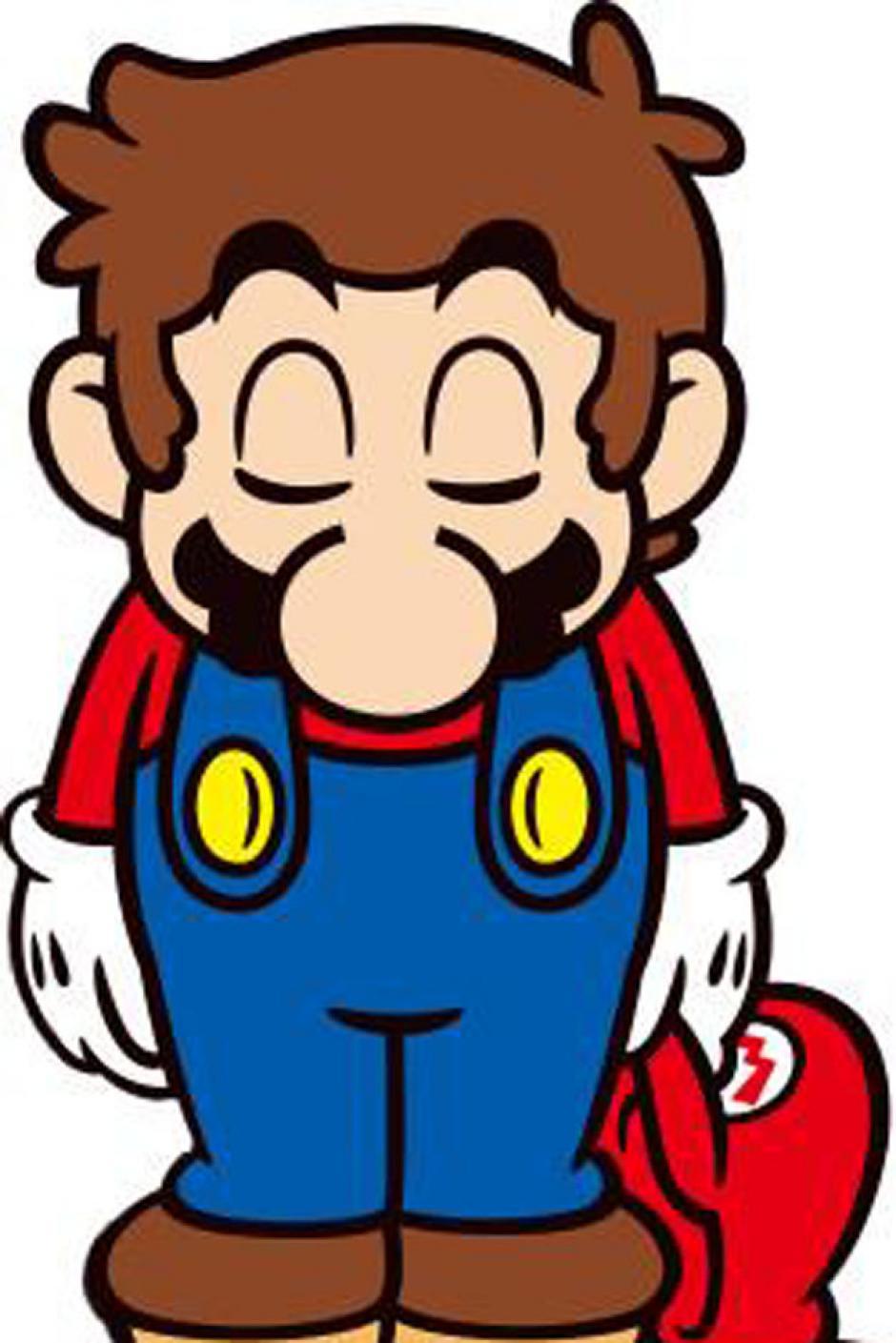 Mario Bros en un gesto bastante emotivo