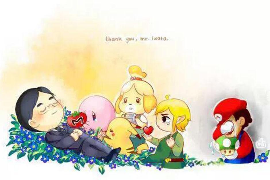 Los personajes más representativos de Nintendo le dicen adiós a Iwata. (Foto: Twitter)