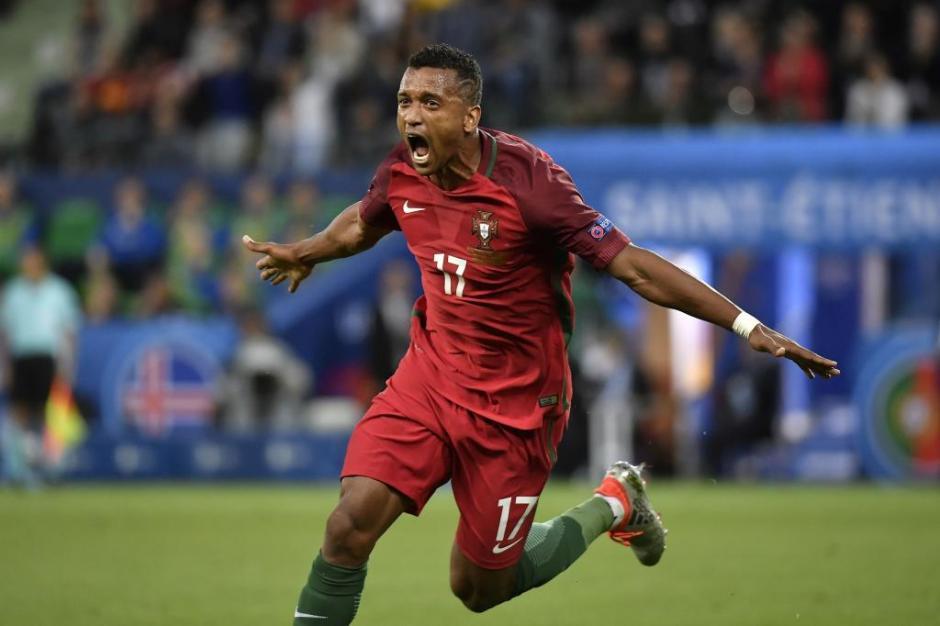 Nani gritó con el el gol de Portugal. (Foto: EFE)