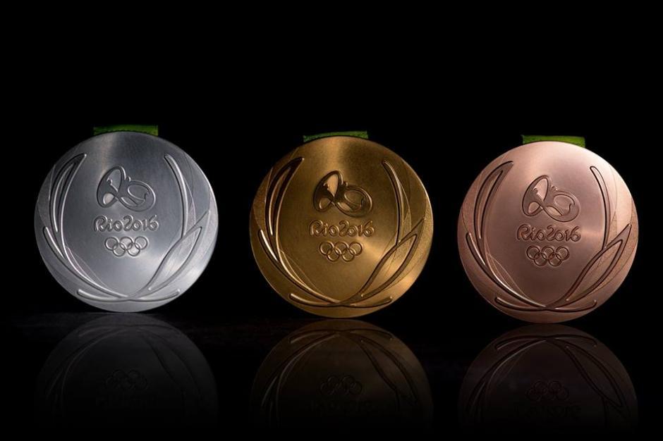 Las medallas de oro, plata y bronce de Río 2016. (Foto: EFE)