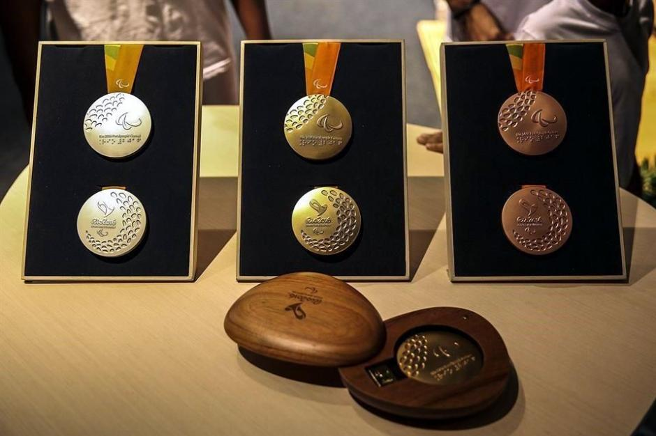 Así son los estuches de las medallas de los Juegos Olímpicos 2016. (Foto: EFE)