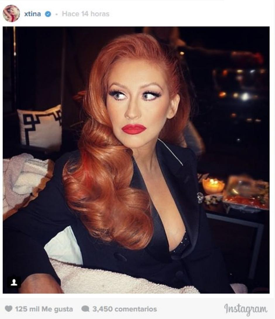"El pelo rojo le sienta bien a ""la Diva del Pop"". (Foto: Eonline)"