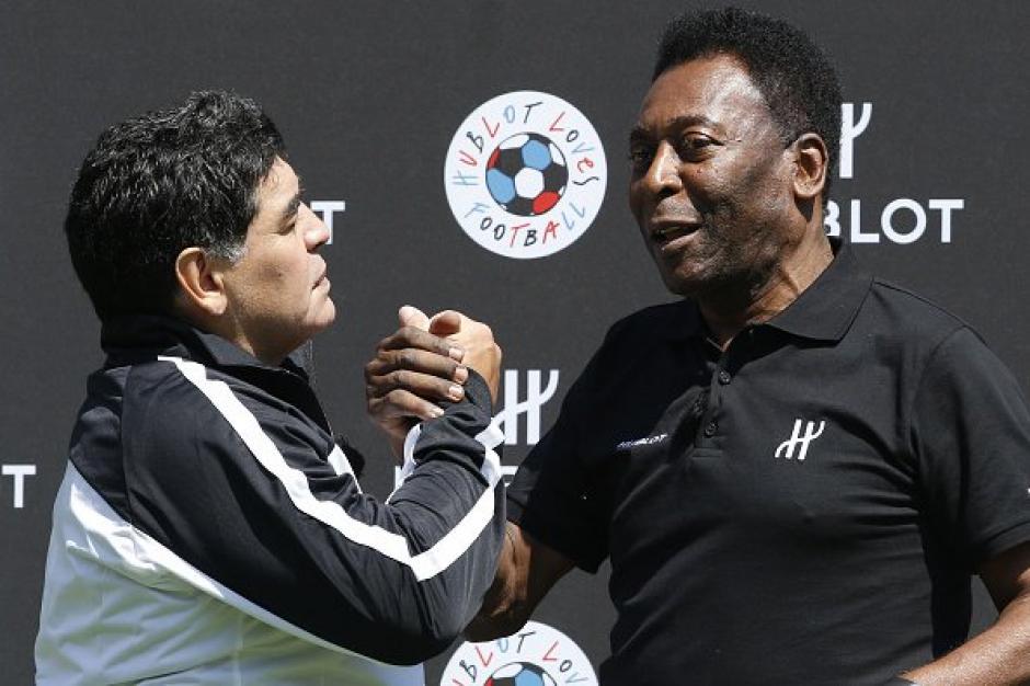 Maradona y Pelé reencuentro foto