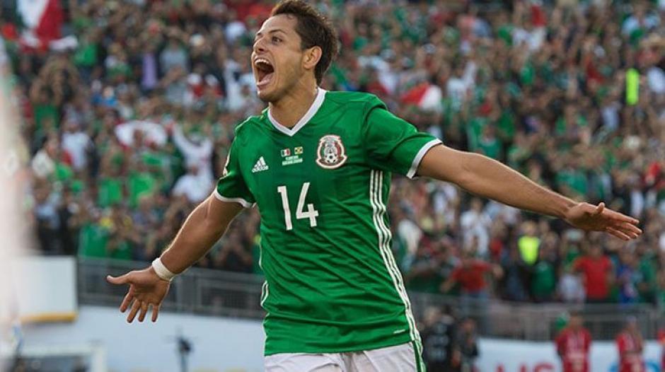 Javier Chicharito Hernández abrió el marcador. (Foto: EFE)
