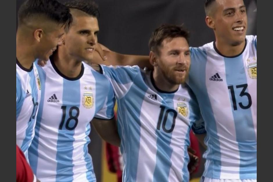Gol de Messi a Panamá foto