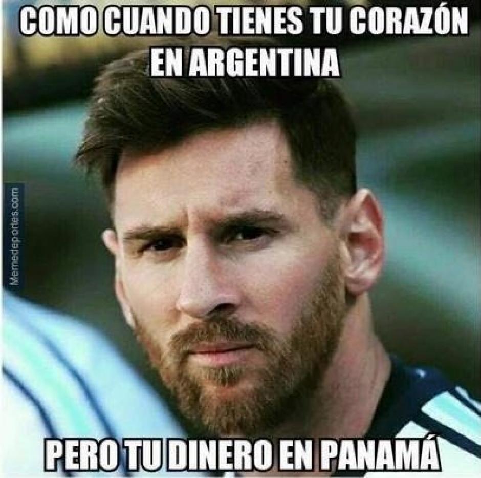 Panamá eliminado y Argentina a la otra ronda, esto sintió Messi según los memes. (Foto: Twitter)