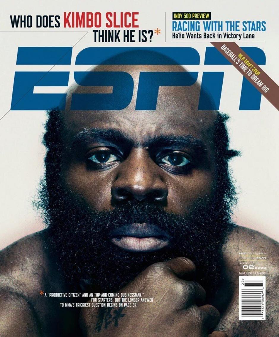 El rostro de Kimbo Slice fue portada de las revistas de deportes. (Foto: ESPN)