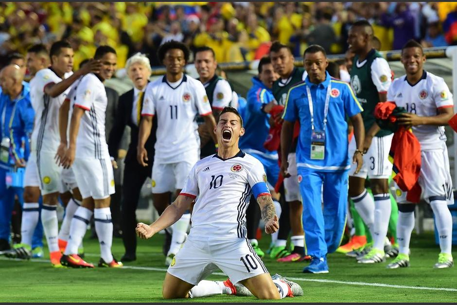 Así gritó su gol James Rodríguez. (Foto: EFE)