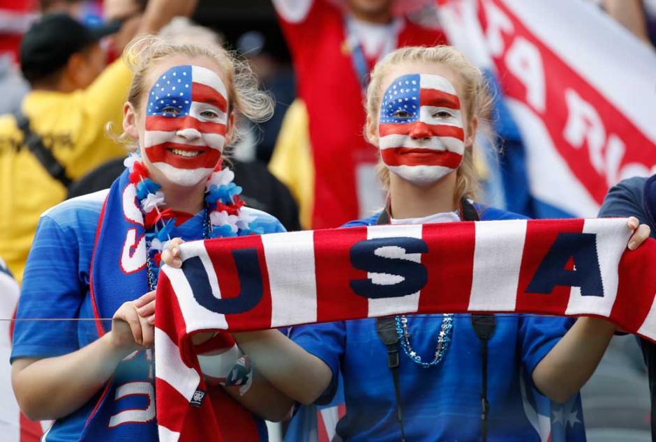 La afición estadounidense disfrutó del triunfo sobre Costa Rica. (Foto: AFP)