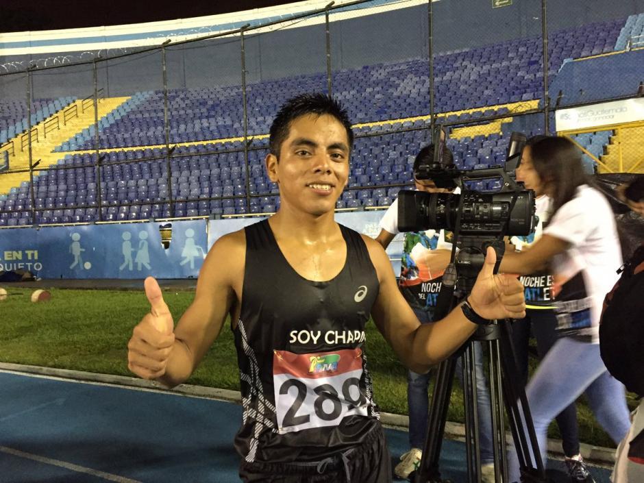 José Raymundo se quedó con el primer lugar de la rama masculina. (Foto: Soy502)