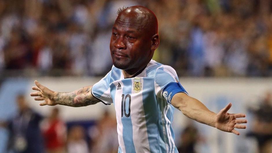 El llanto de Messi no pasó desapercibido y le hicieron esta burla. (Foto: Twitter)