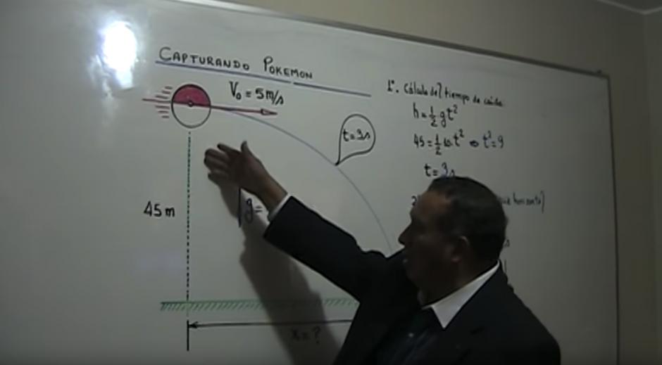 El profesor Walter Lauro Pérez Terrel usa a Pikachu de ejemplo. (Captura de pantalla: Walter Lauro Pérez Terrel/YouTube)