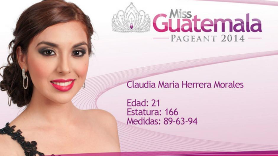 Claudia Herrera es la belleza de Guatemala Este. (Foto: Miss Guatemala oficial)