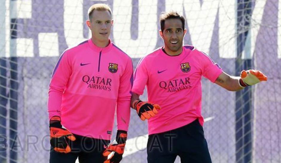 Ter Stegen y Bravo se han alternado en el arco del Barcelona. (Foto: depor.com)