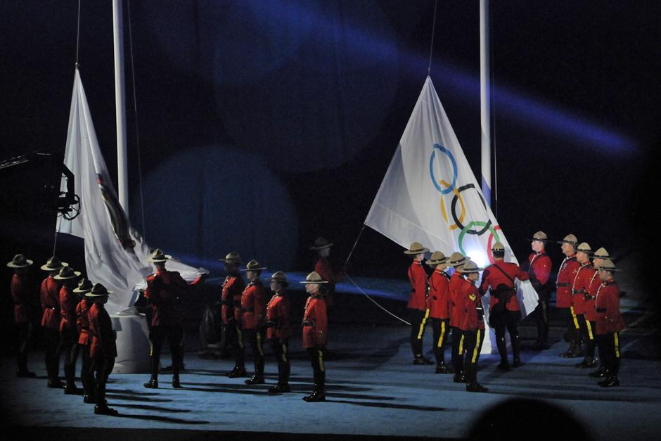 La policía montada canadiense también dijo presente en la clausuara de los Juegos Panamericanos de Toronto 2015. (Foto: Pedro Mijangos/Soy502)
