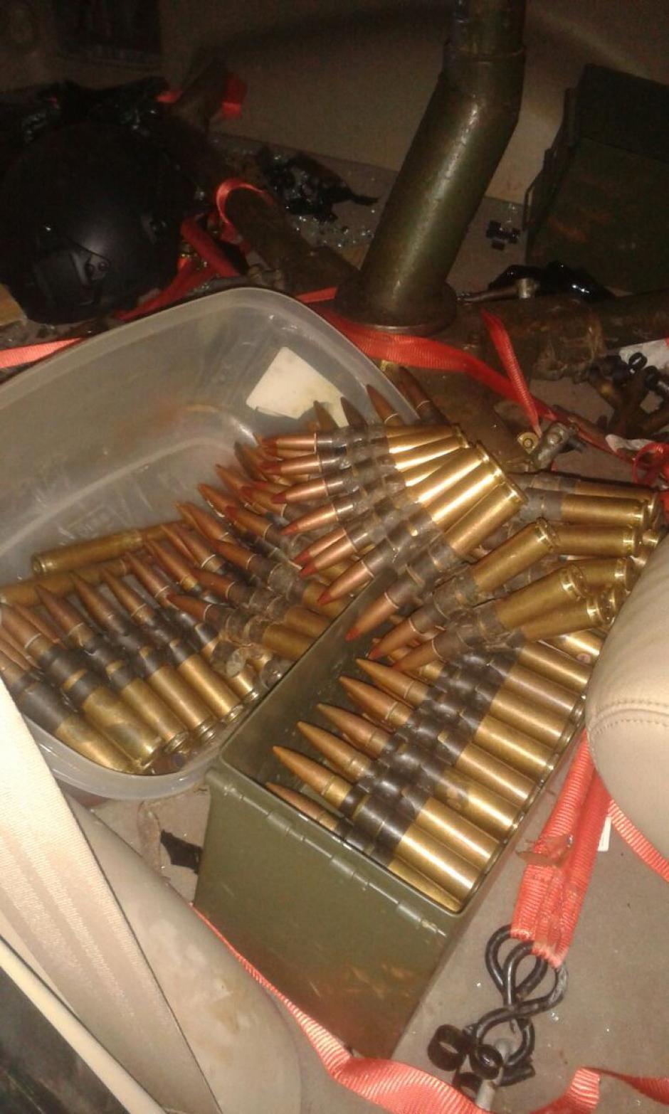 Armamento de grueso calibre se usó para el atentado. (Foto: Diario33)