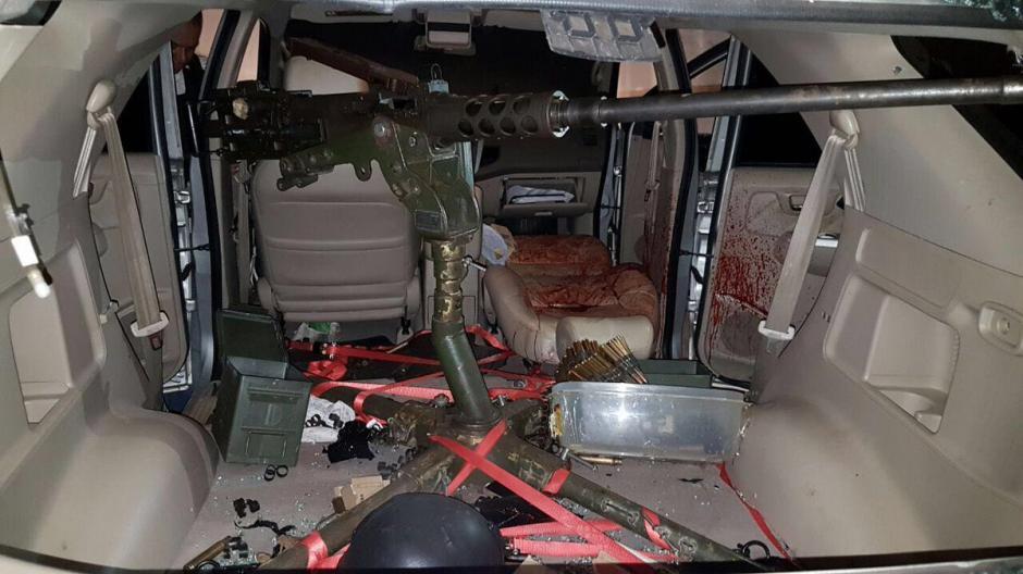 Una metralleta .50 que es de uso exclusivo del ejército fue usada en el atentado. (Foto: Diario33)