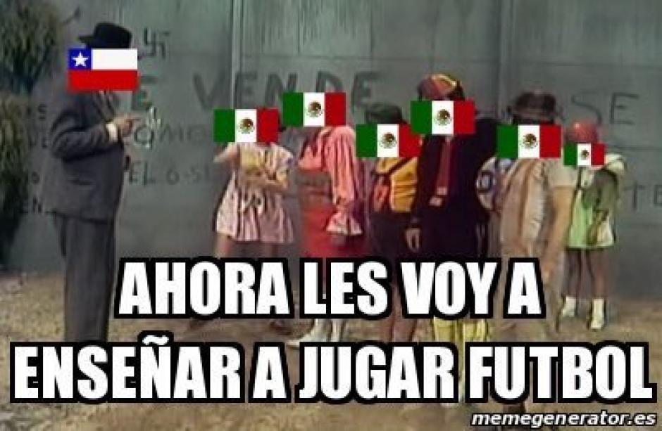 "Algunos usuarios resaltaron que Chile ""le enseñó"" a México a jugar fútbol. (Foto: memedeportes.com)"
