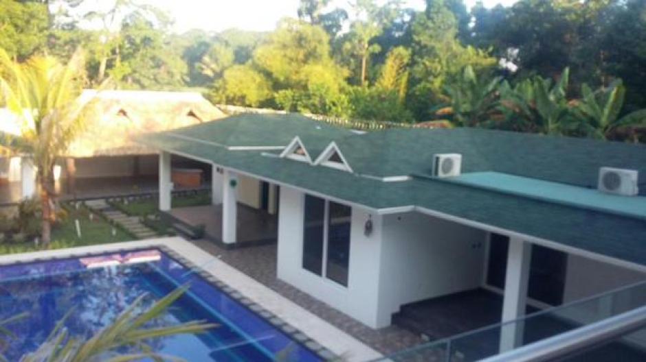 La vivienda del supuesto narco Manfredo Cordón, tiene finos acabados. (Foto: MP)