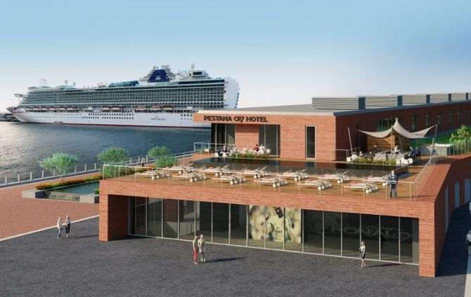 Así luce la fachada el hotel CR7 Pestana que fue inaugurado este viernes. (Foto: Twitter)