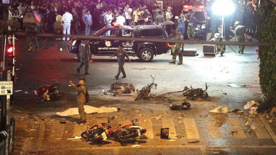 Explosión en Bangkok foto