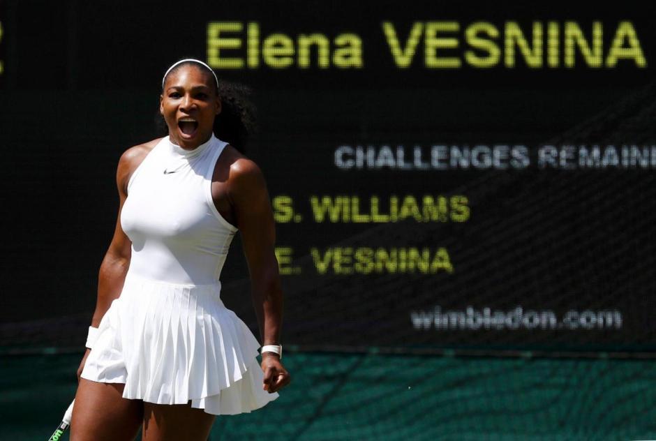 Serena Williams a la final de wimbledon foto