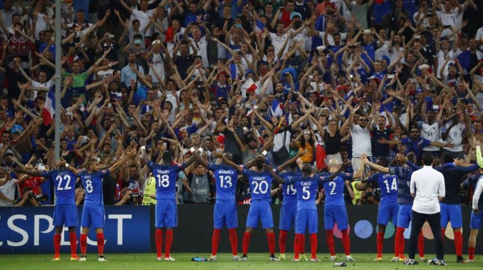 festejo a los islandia de lo franceses foto