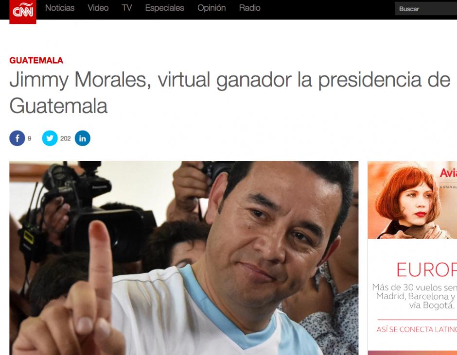 CNN en español reconoce como vitual ganador a Morales.