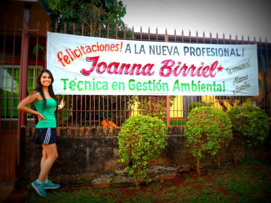 Joanna Birriel se graduó de Técnica de Gestión Ambiental. (Foto: Facebook)