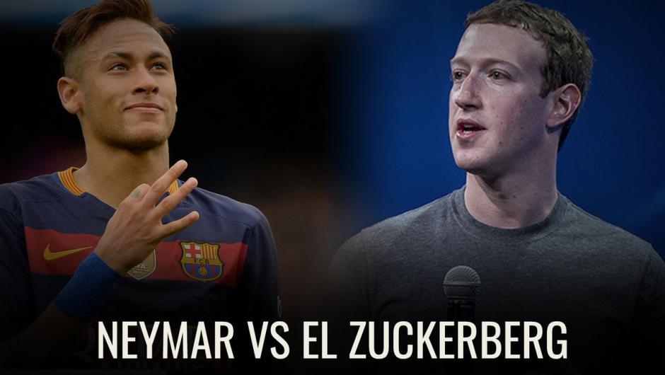 Neymar no pudo contra el creador de Facebook Mark Zuckerberg. (Foto: Instagram)