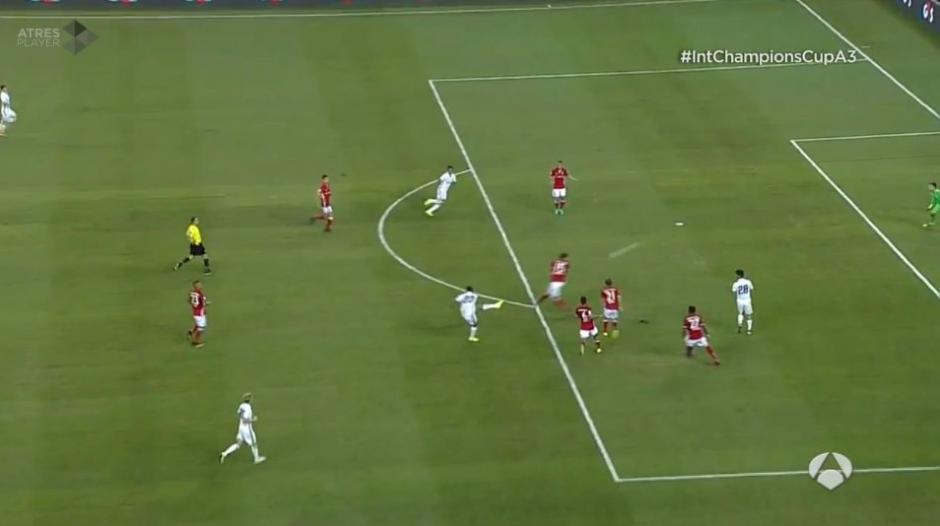 Así fue el zapatazo de la Danilo para el único gol del partido. (Foto: Twitter)