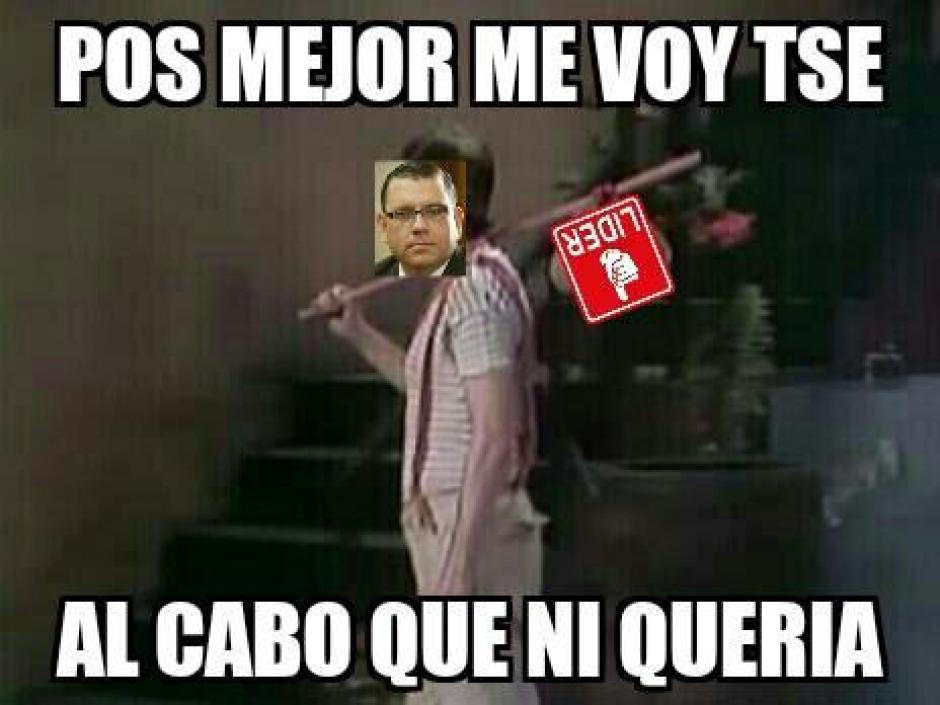 """Muchos fueron los """"memes"""" que le dedicaron a Manuel Baldizón luego que este anunciara su salida de la política"""