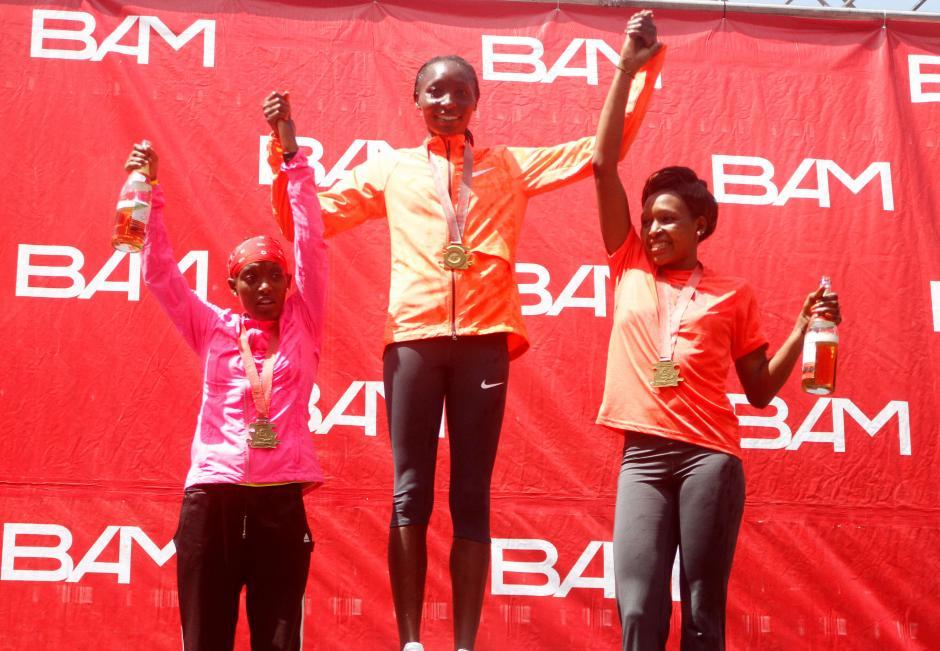 Las corredoras procedentes de Kenia dominaron el podio de ganadoras en la categoría femenina. (Foto: Sports and Marketing)