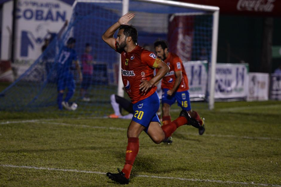 Carlos Ruiz anotó el gol del triunfo de Municipal en el estadio José Ángel Rossi. (Foto: Nuestro Diario)