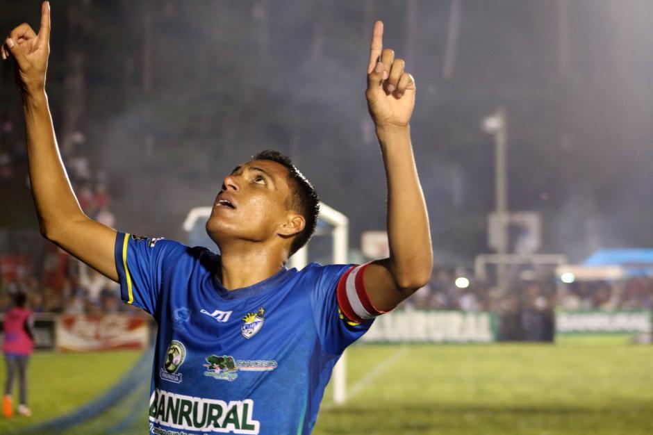 El hondureño nacionalizado guatemalteco Gerson Tinoco, hizo su segundo gol del Torneo Apertura. (Foto: Byron de La Cruz/Nuestro Diario)