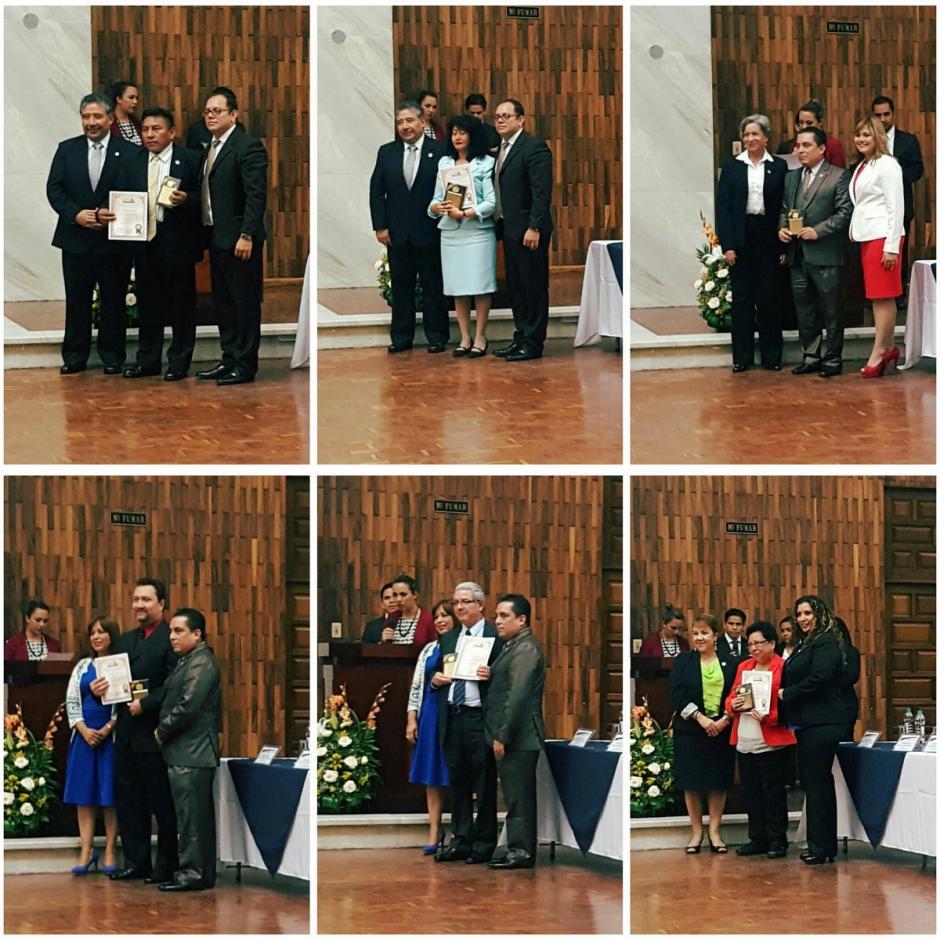 """En el """"Día del Juez"""" otros impartidores de justicia fueron homenajeados. (Foto: Organismo Judicial)"""