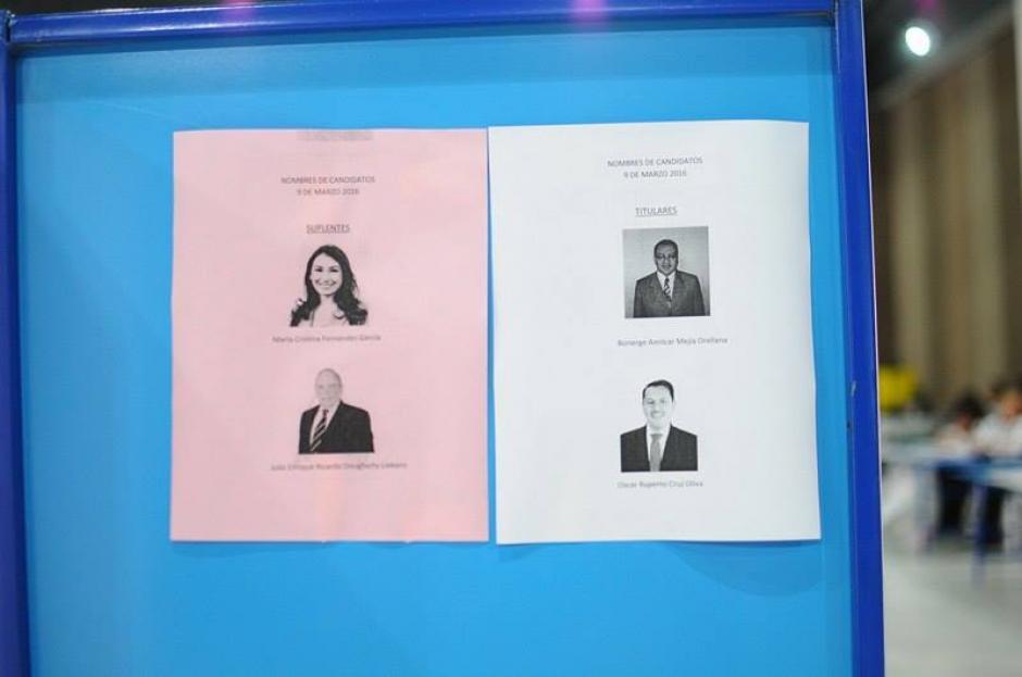 Así eran las papeletas en donde los abogados emitieron su voto. (Foto: Jesús Alfonso/Soy502)