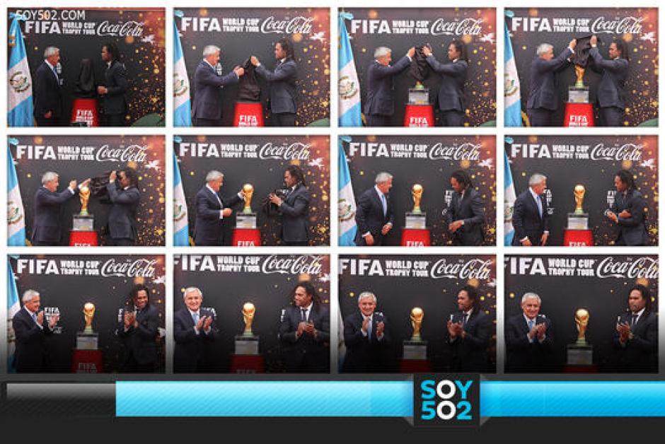 El trofeo de la Copa del Mundo de la FIFA realiza un tour en el cual se incluyó a Guatemala como una de sus paradas, en febrero. (Imagen: Soy502)