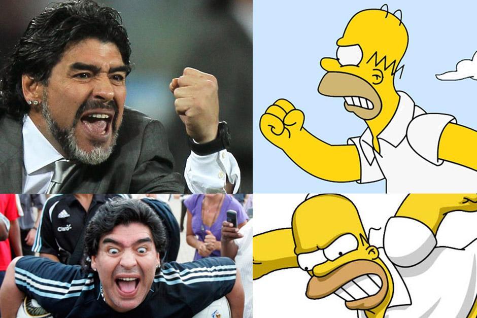 """Maradona arremetió contra Los Simpson y """"Homero"""" le contestó de manera muy creativa"""