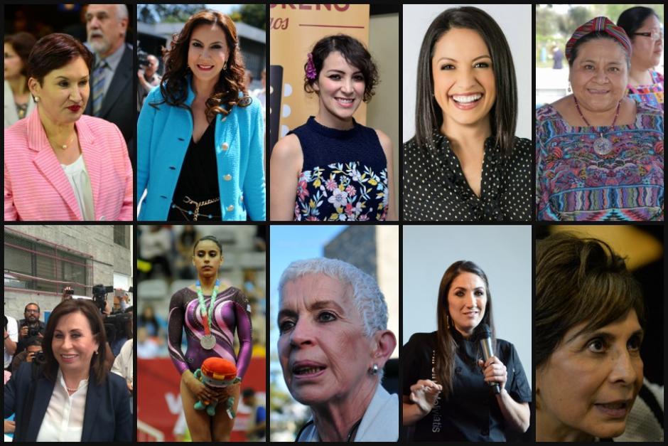 Mujeres políticas, deportistas, presentadoras de televisión y activistas resaltan entre las 20 guatemaltecas más poderosas. (Foto: Elaboración de Soy502)