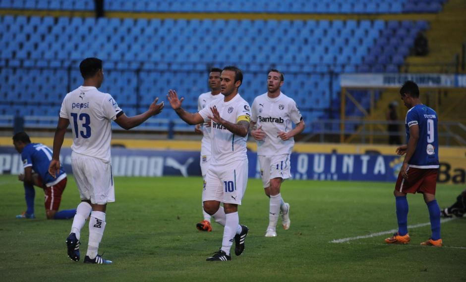 José Manuel Conteras festejó dos goles ante Mictlán, estuvo fuera por casi dos meses y medio. (Foto: Nuestro Diario)