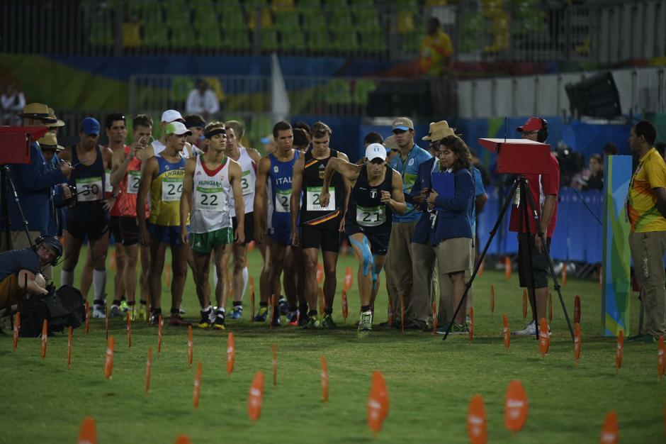 Así fue la salida de la meta para Charles, compitió ante 35 pentatletas de todo el mundo. (Foto: Aldo Martínez/Enviado de Nuestro Diario)