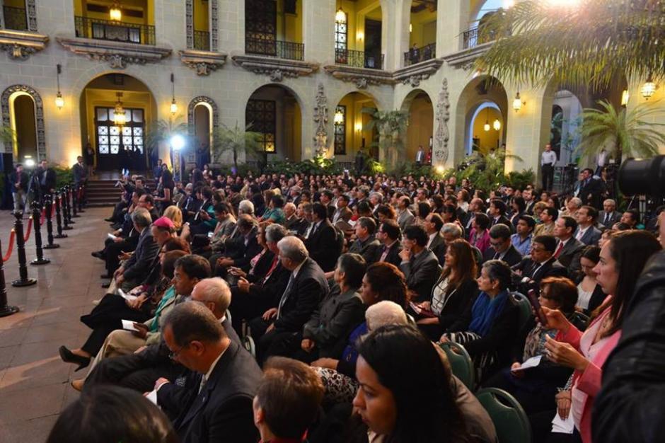 En el Palacio Nacional de la Cultura fue presentada la Estrategia contra la Desnutrición Crónica. (Foto: Jesús Alfonso/Soy502)